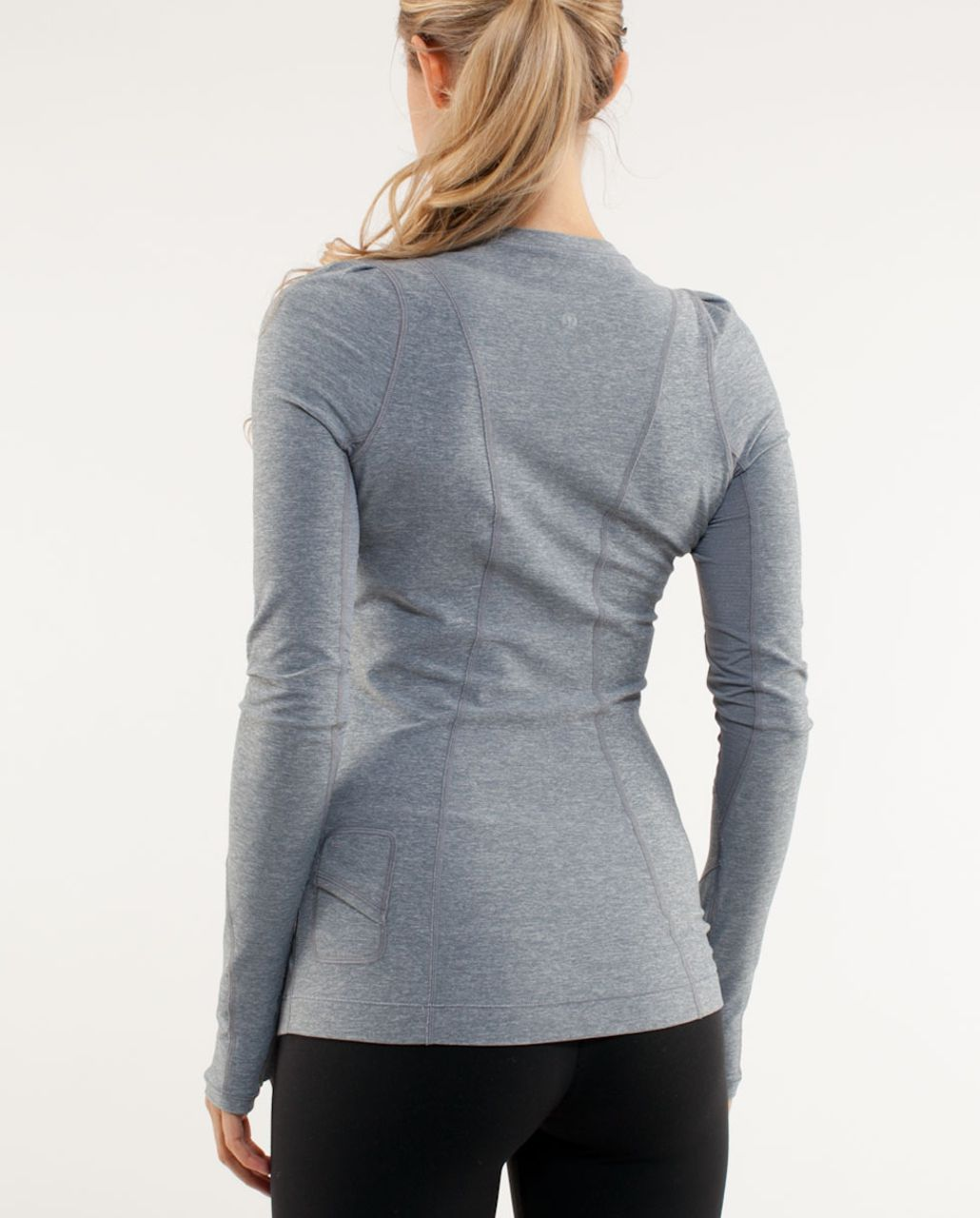 Lululemon Run:  Back On Track Long Sleeve Tech - Heathered Blurred Grey
