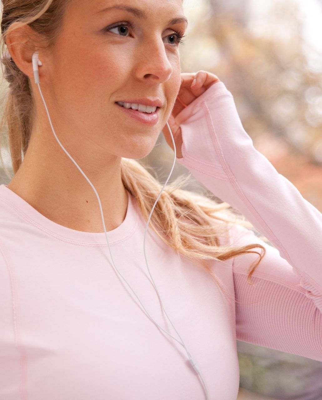 Lululemon Run:  Back On Track Long Sleeve Tech - Heathered Pig Pink
