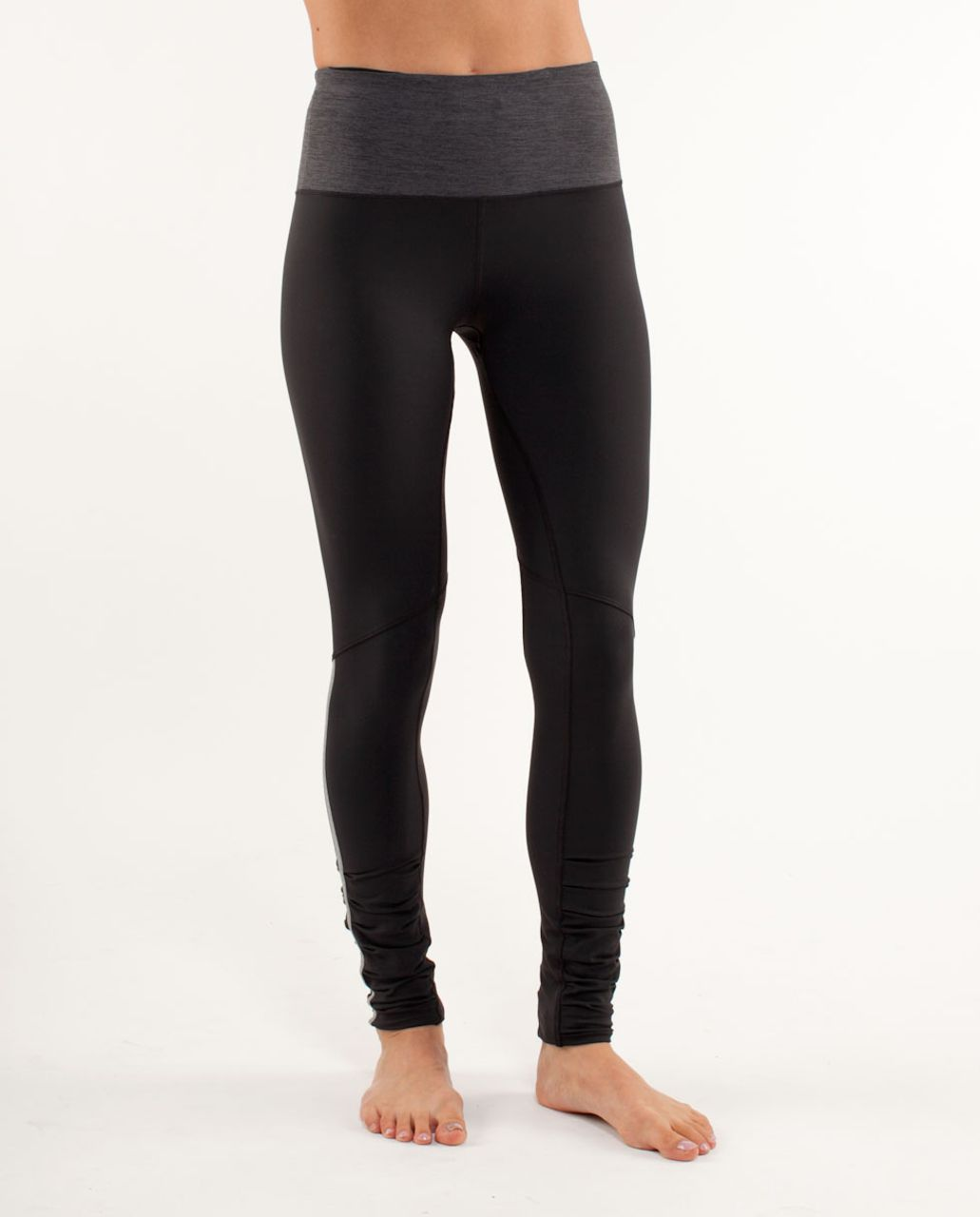 Lululemon Run:  Back on Track Tight - Black /  Heathered Black