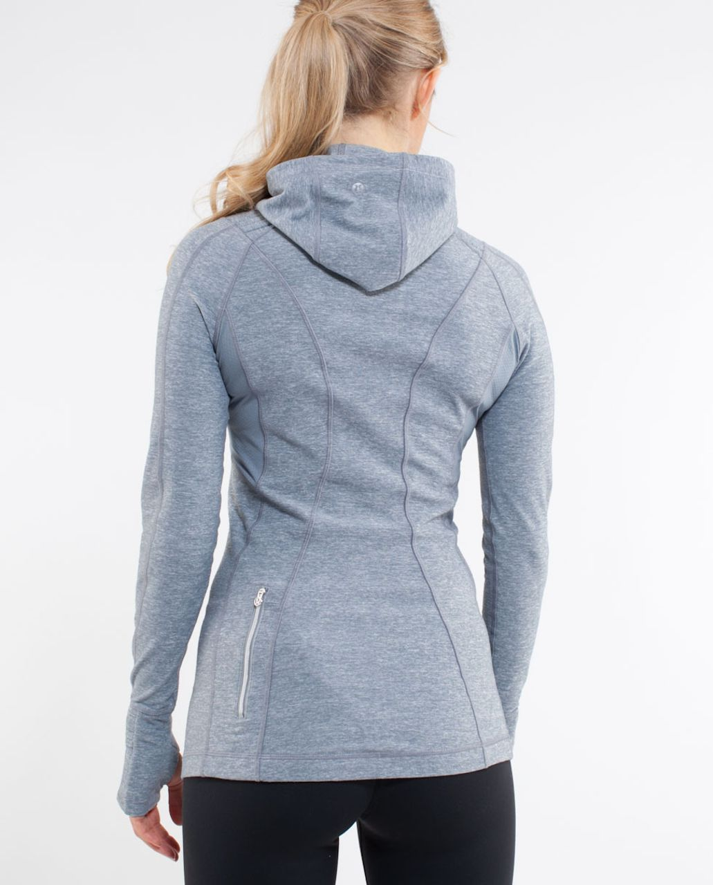 Lululemon Run:  Back On Track Pullover - Heathered Blurred Grey