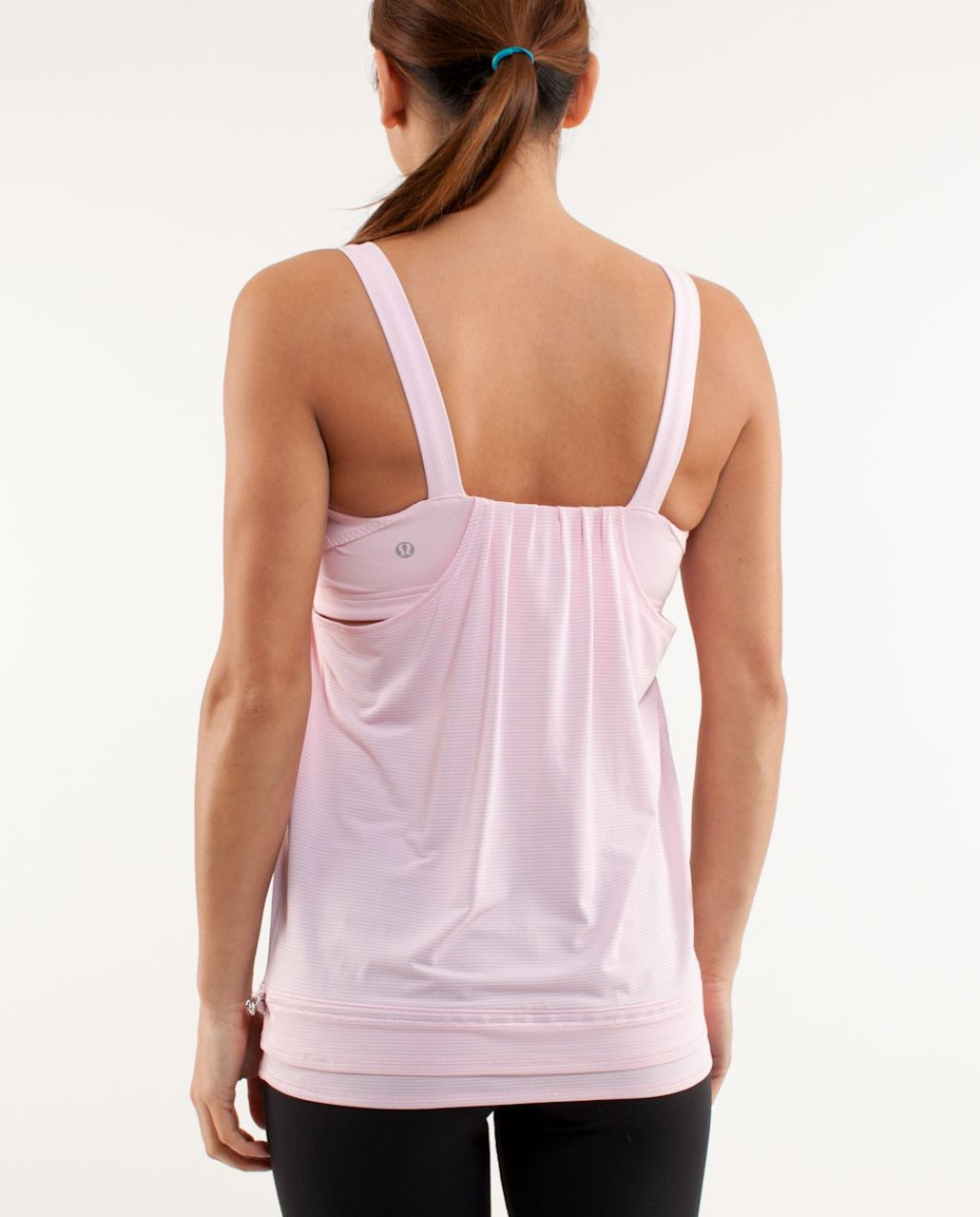 Lululemon Run:  Back On Track Tank - Heathered Pig Pink /  Pig Pink
