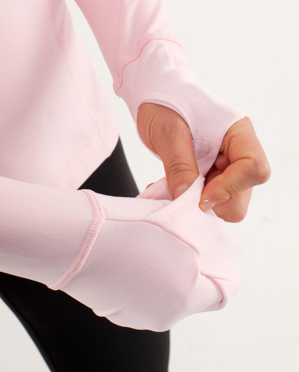 Lululemon Run:  Distance Pullover - Pig Pink /  Heathered Pig Pink