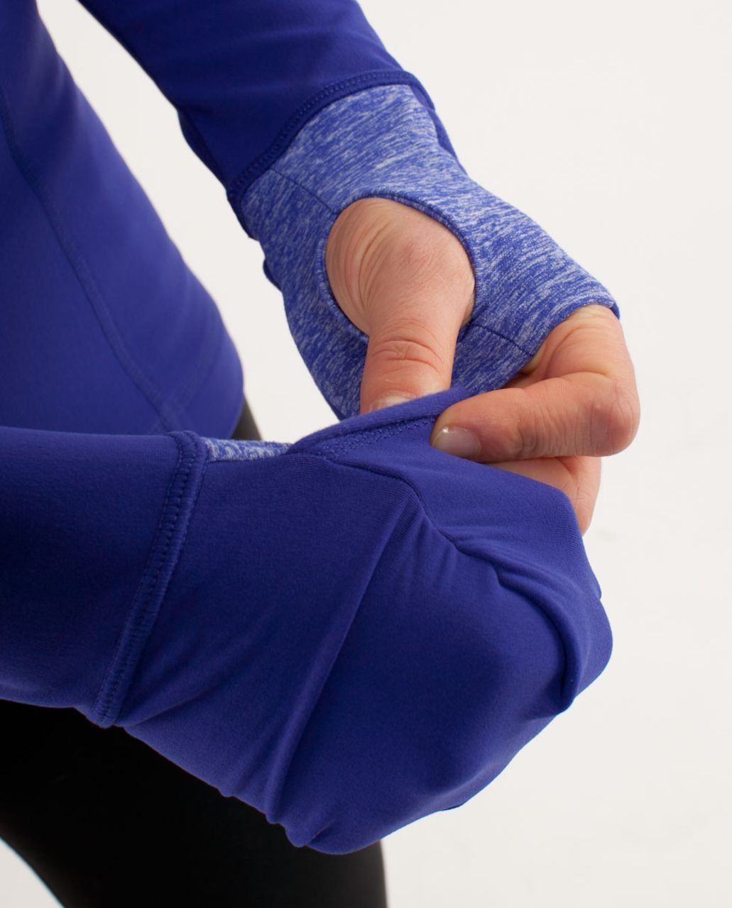 Lululemon Run:  Distance Pullover - Pigment Blue /  Heathered Pigment Blue