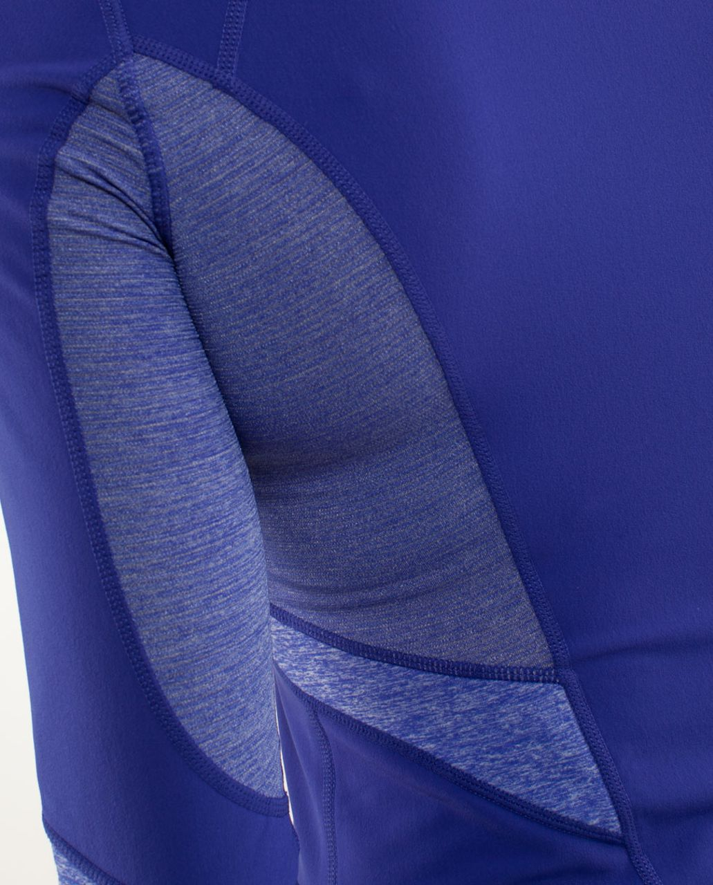 Lululemon Run:  Distance Pullover - Pigment Blue /  Heathered Pigment Blue