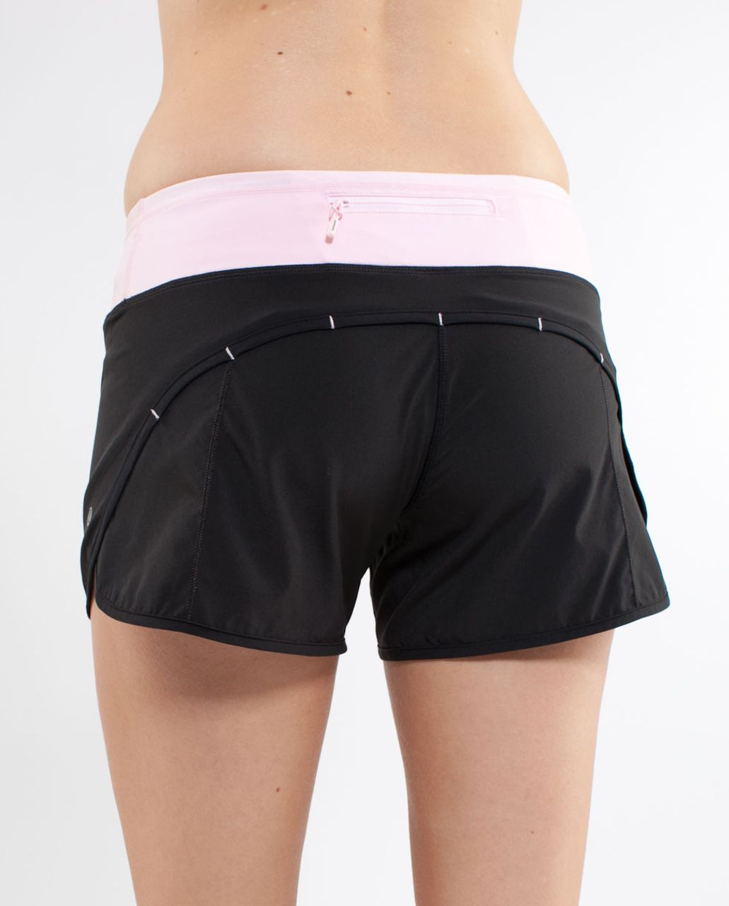 Lululemon Turbo Run Short - Black /  Pig Pink /  Heathered Pig Pinks