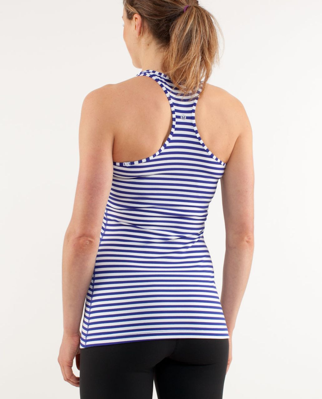 Lululemon Cool Racerback - Pigment Blue White Narrow Bold Stripe