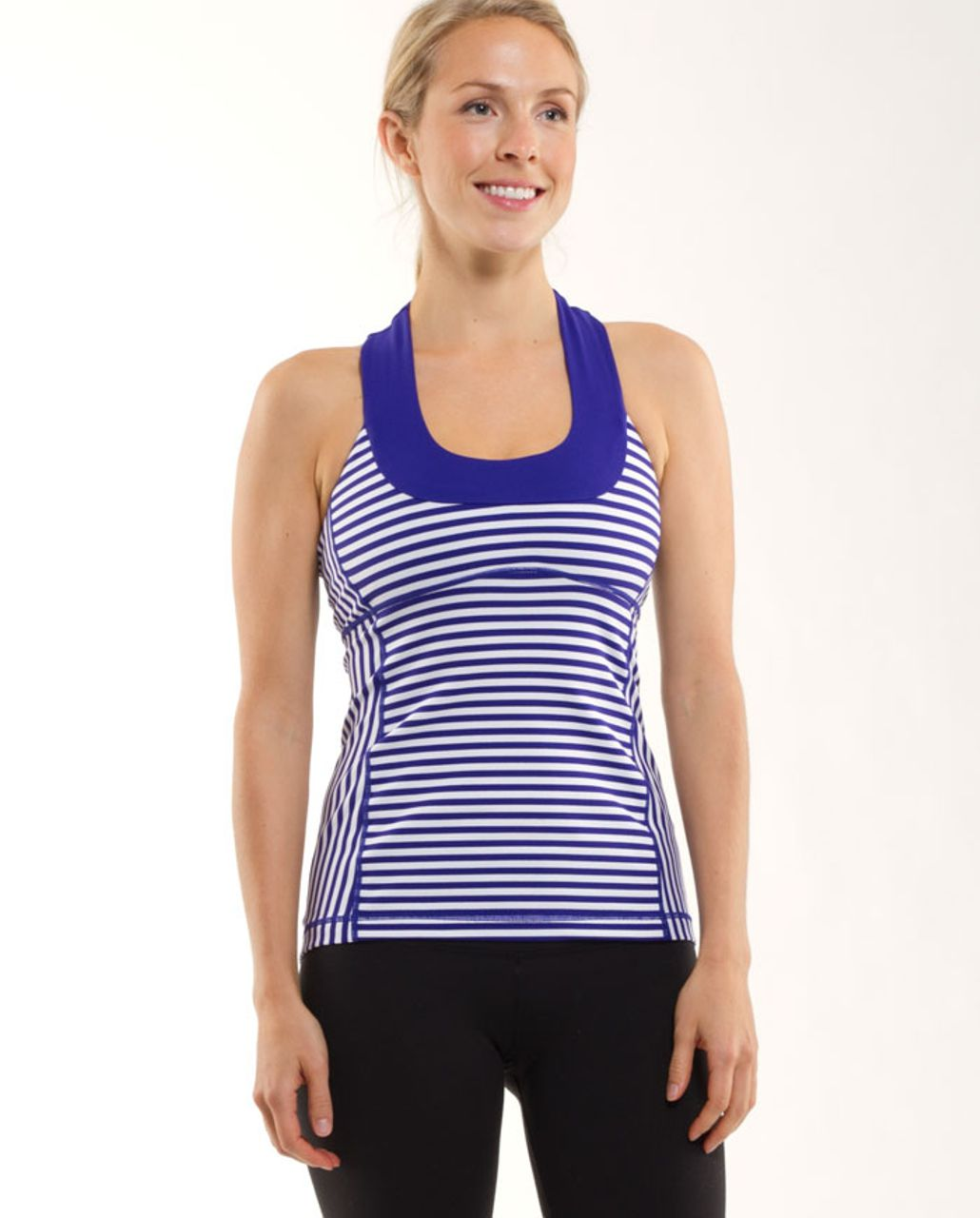 Lululemon Scoop Neck Tank - Pigment Blue White Narrow Bold Stripe /  Pigment Blue