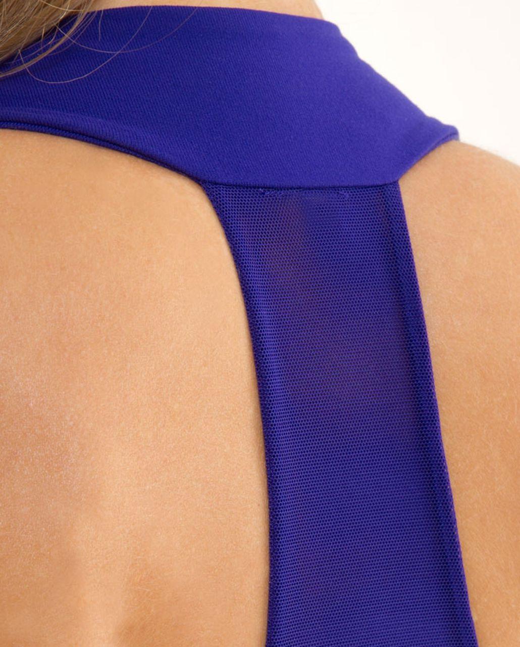 Lululemon Scoop Neck Tank - Pigment Blue White Narrow Bold Stripe /  Pigment Blue