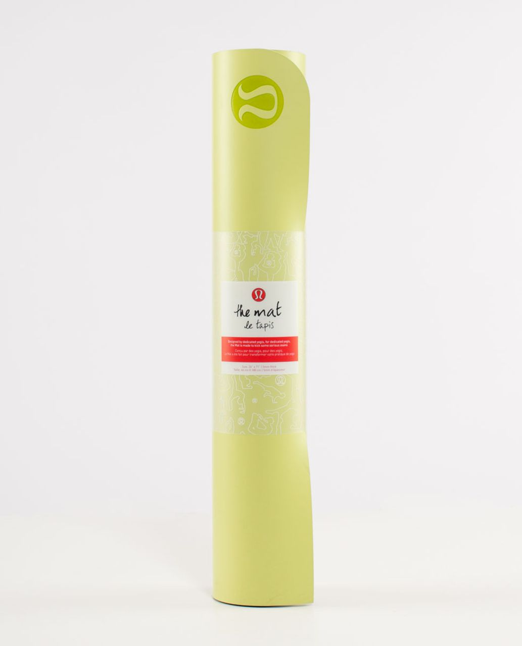 Lululemon The Mat - Wild Lime /  Deep Coal