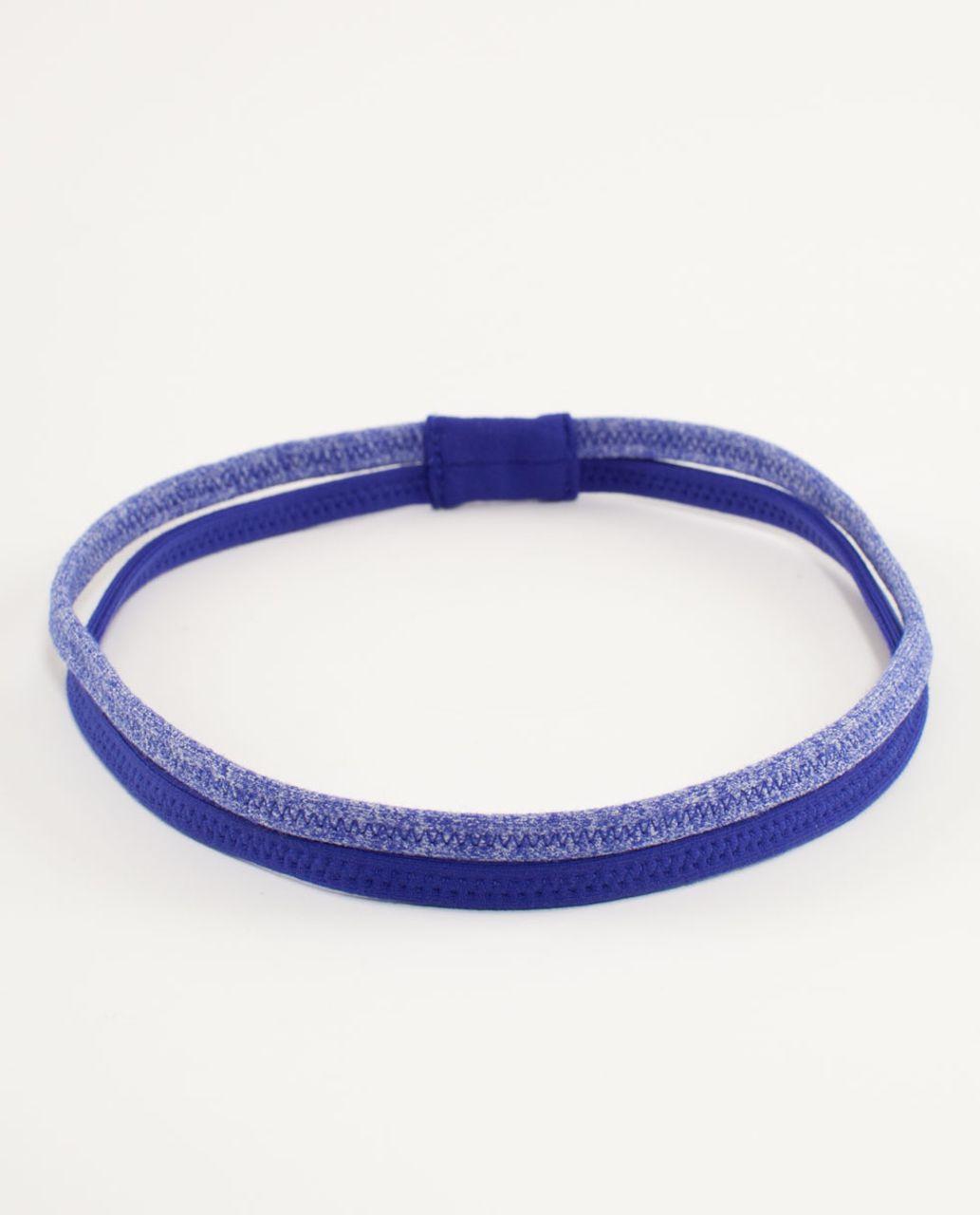 Lululemon DANCE! Headband - Pigment Blue /  Heathered Pigment Blue