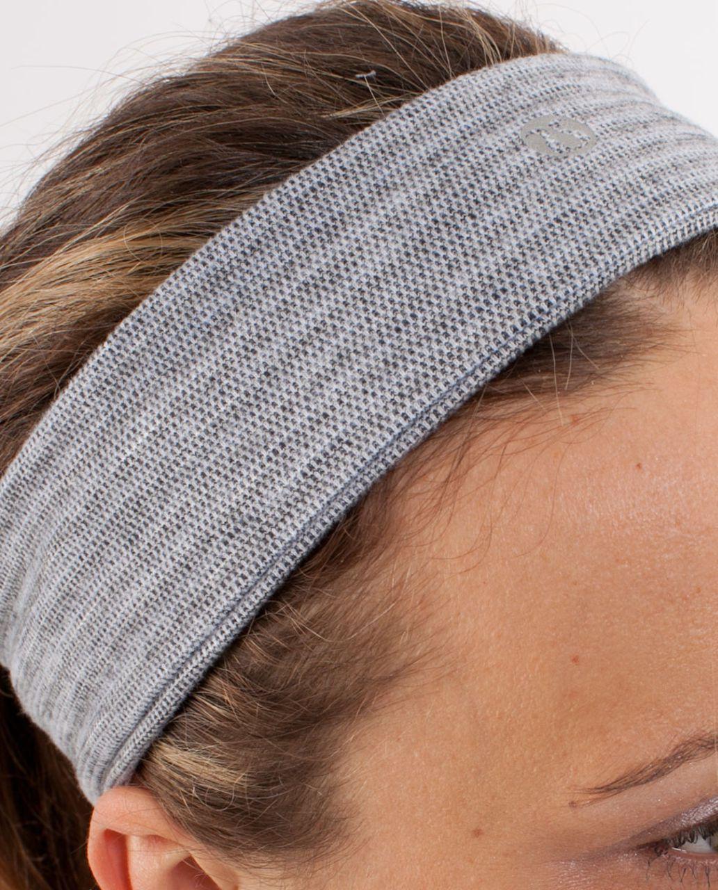 Lululemon Lucky Luon Headband - Deep Coal Silver Spoon Pique
