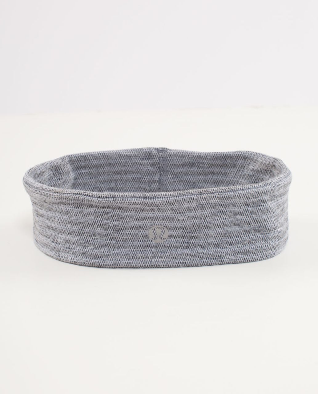 Lululemon Lucky Luon Headband - Deep Coal Silver Spoon Pique