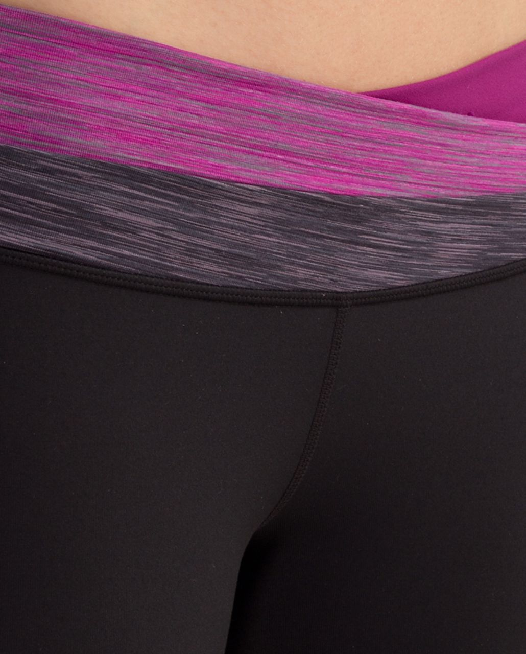Lululemon Astro Pant (Tall) - Black /  Magnum Space Dye /  Dew Berry Space Dye