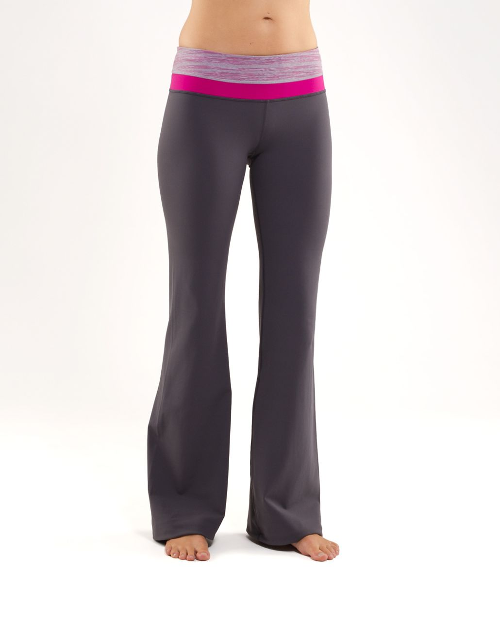 Lululemon Groove Pant (Tall) - Coal /  Muted Mauve Stripes Galore /  Raspberry