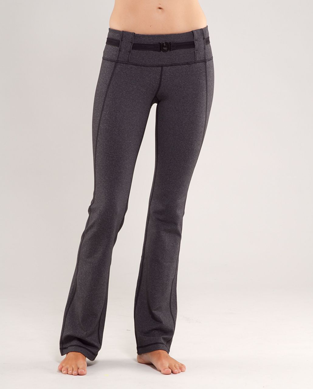 Lululemon Appreciation Pant - Heathered Black /  Black Stripes Galore