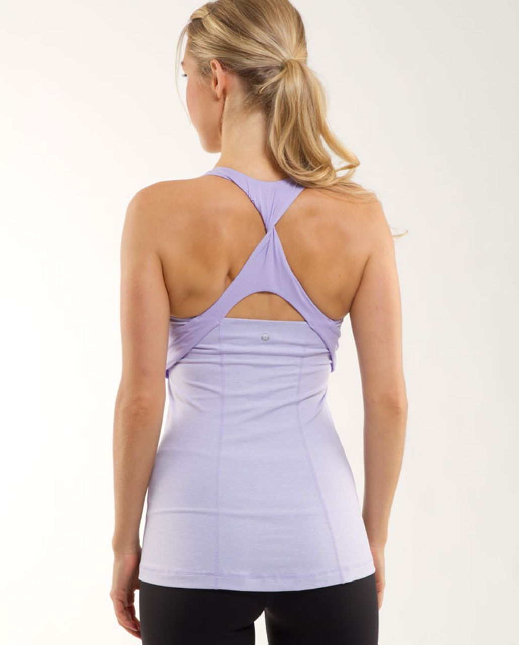 Lululemon Spin Me Tank - Heathered Lilac /  Lilac
