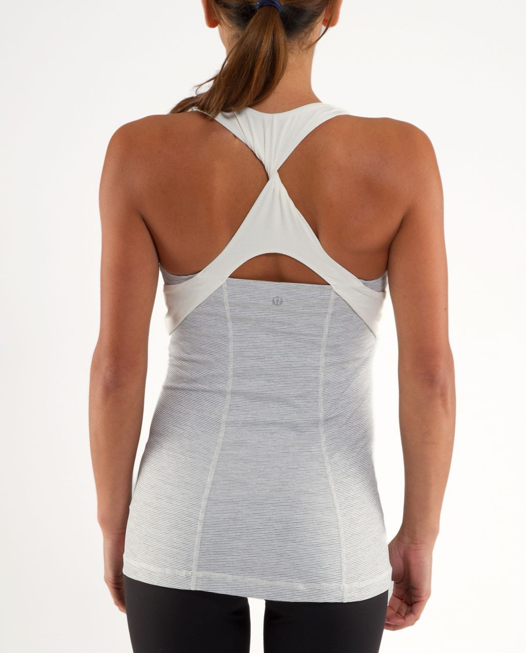 Lululemon Spin Me Tank - Ghost Blurred Grey Mini Stripe /  Ghost