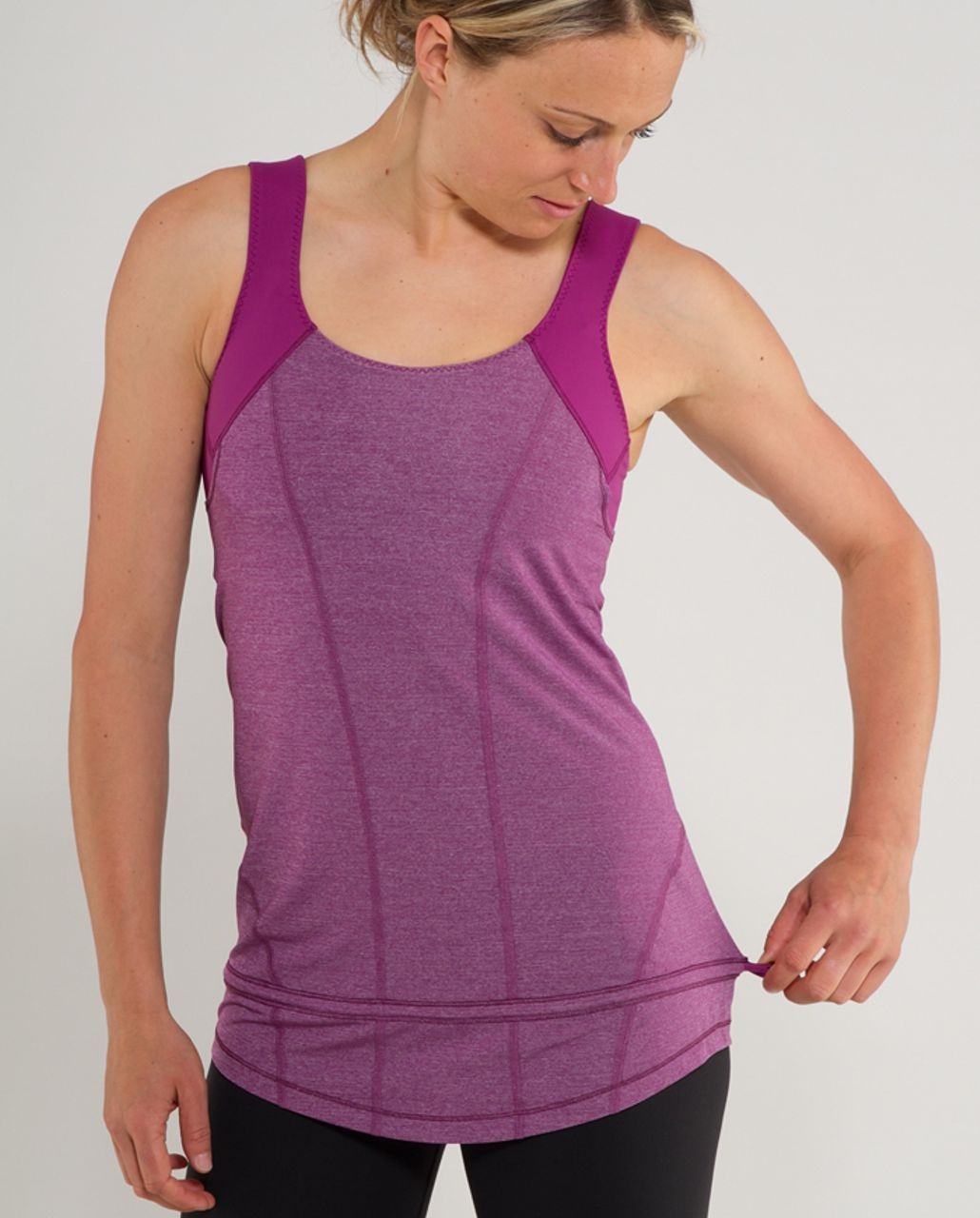 Lululemon Run:  For Your Life Tank - Heathered Dew Berry /  Dew Berry