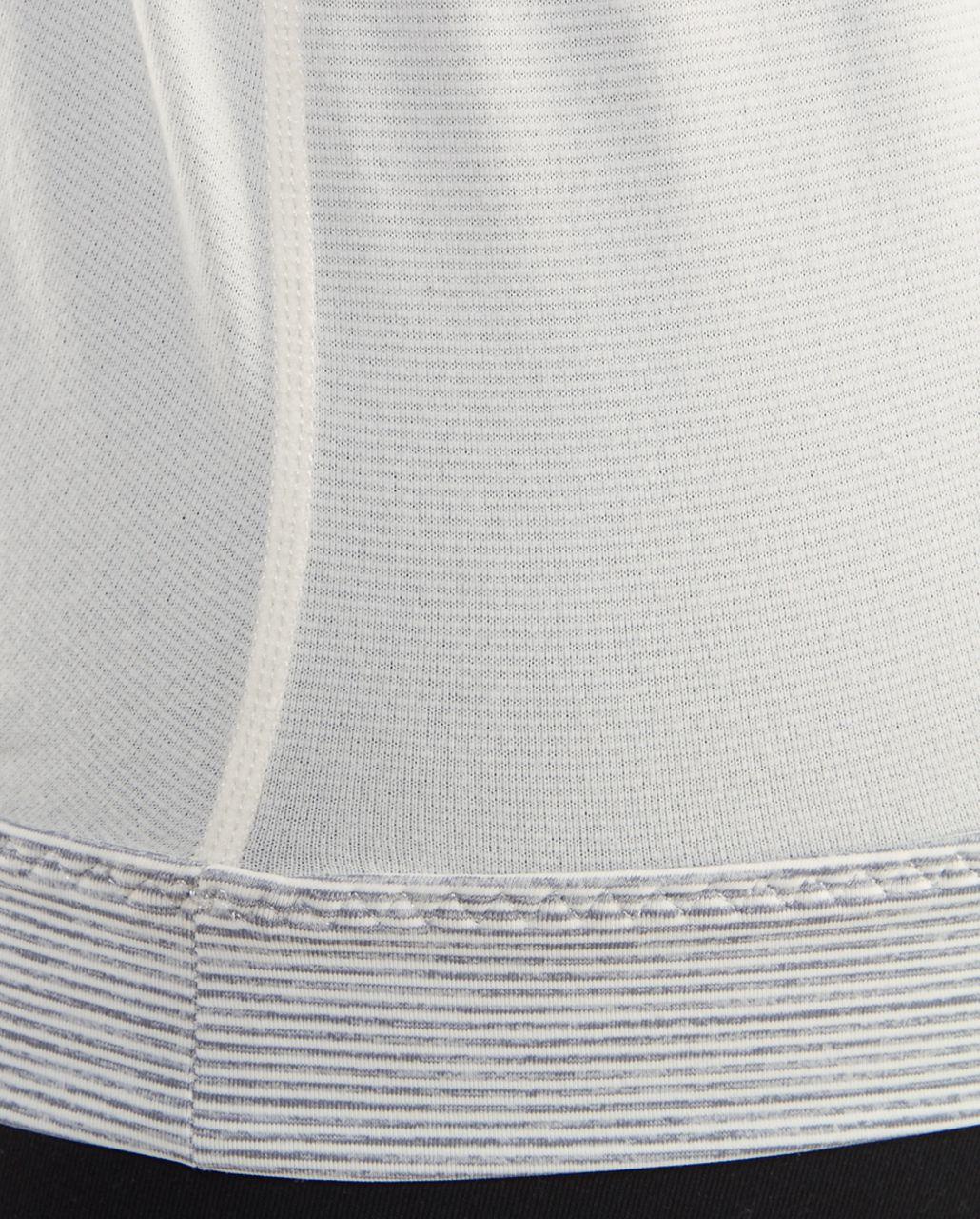 Lululemon Pure Focus Tank - Ghost /  Ghost Blurred Grey Mini Stripe