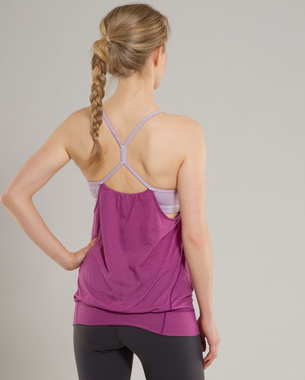 Lululemon Let It Loose Tank - Dew Berry Wee Stripe /  Dew Berry