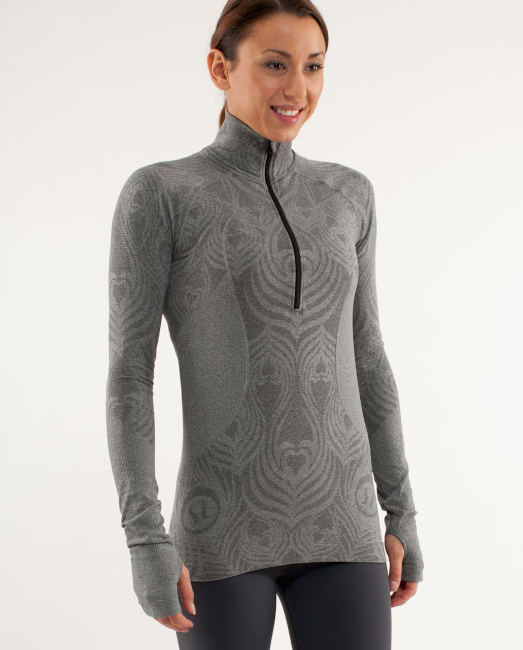 Lululemon Run:  Take Flight Pullover Tech - Dark Classic Sport Grey