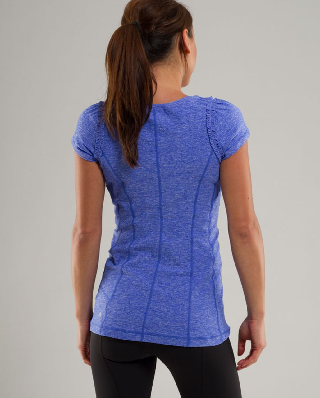 Lululemon Run:  Full Tilt Short Sleeve - Heathered Rocksteady