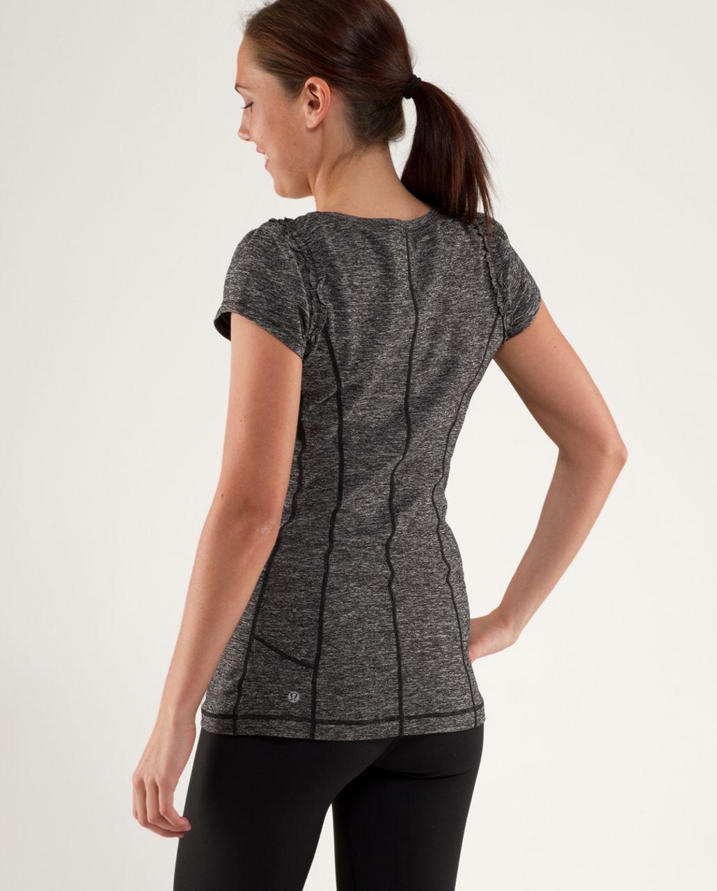 Lululemon Run:  Full Tilt Short Sleeve - Heathered Black