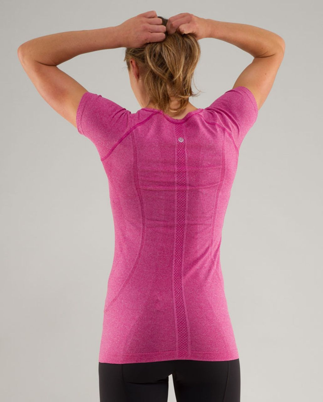 Lululemon Run:  Swiftly Tech V Neck - Raspberry