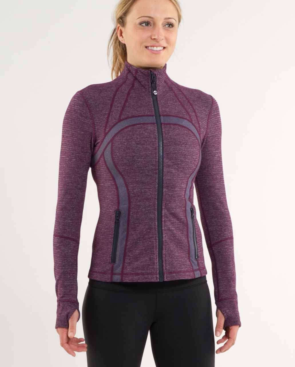 Lululemon Define Jacket *Soft Mini Check - Black Swan Heathered Plum Mini Check /  Heathered Black Swan