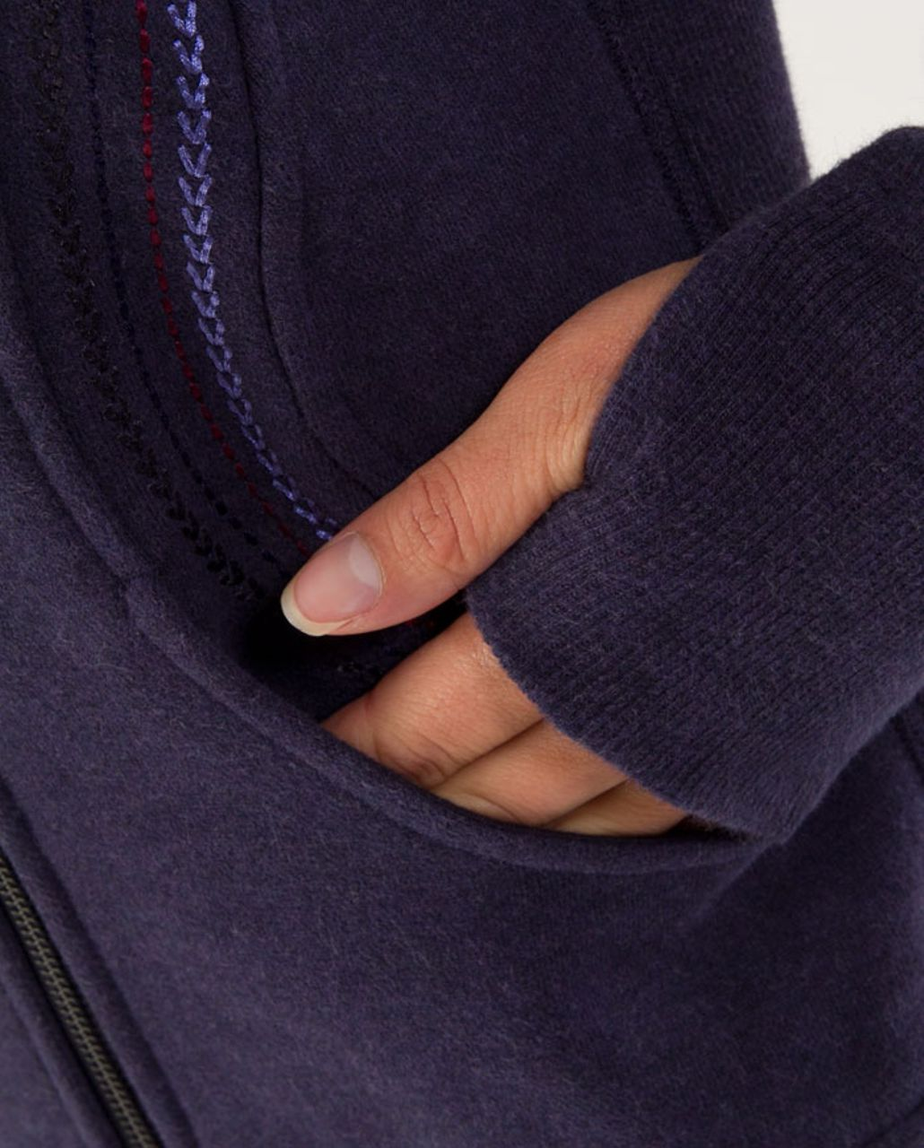 Lululemon Cuddle Up Jacket - Heathered Black Swan (Light Trim)