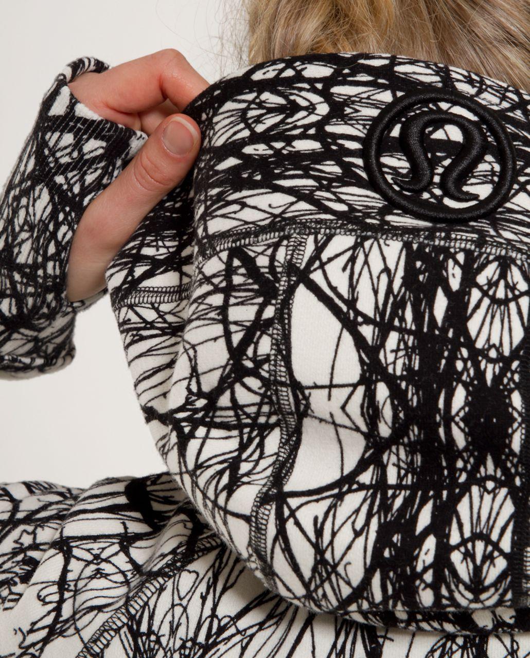 Lululemon Scuba Hoodie *Print - Ghost Ground Nesting Black Bird
