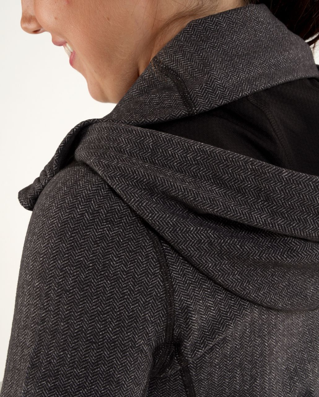Lululemon Stride Jacket *Brushed - Black Heathered Deep Coal Herringbone /  Black