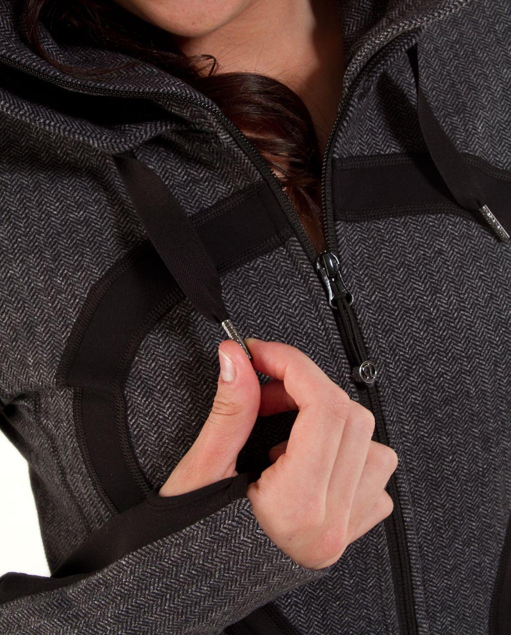Lululemon Stride Jacket *Brushed - Black Heathered Deep Coal Herringbone /  Black