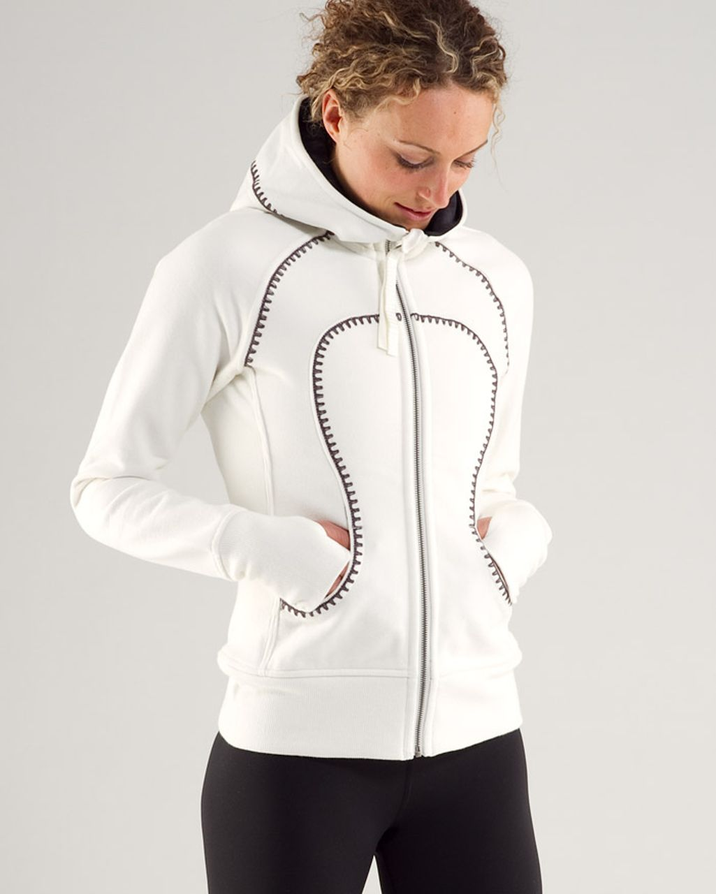 Lululemon Scuba Hoodie* Travel Pillow - Ghost /  Black Snowy Owl