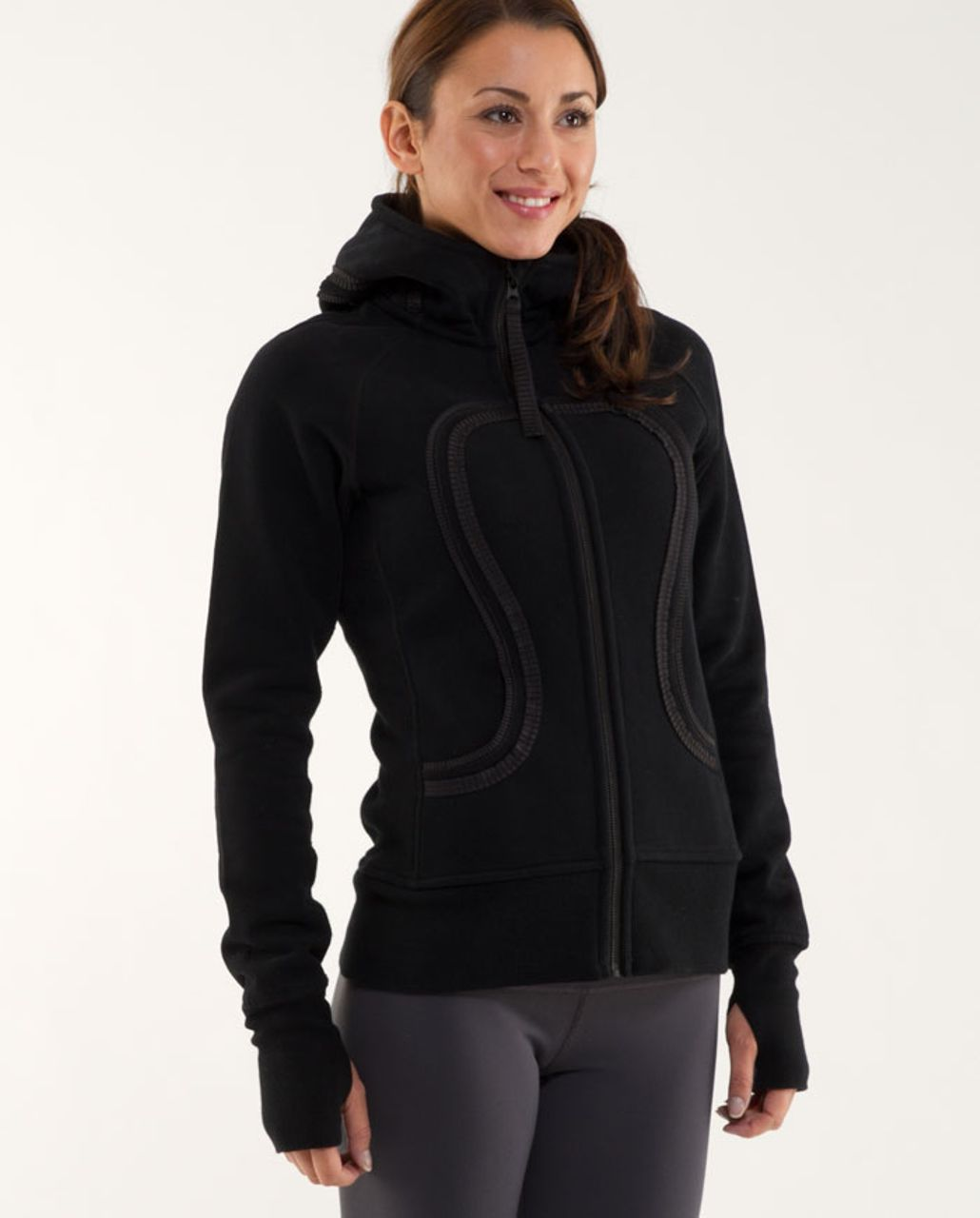 Lululemon Scuba Hoodie*Pleated Tape - Black