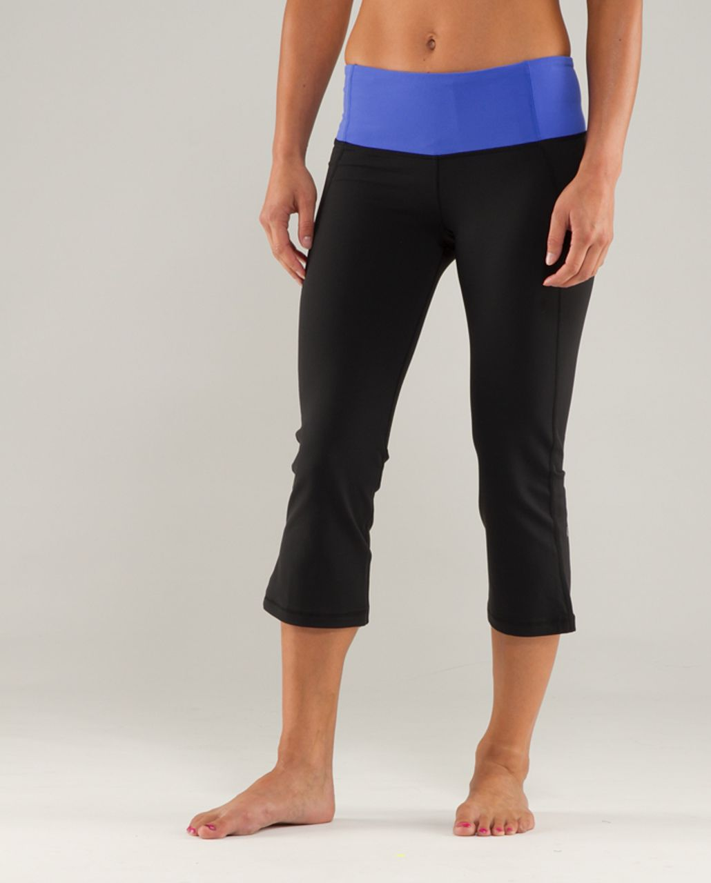 Lululemon Gather & Crow Crop - Black /  Heathered Rocksteady