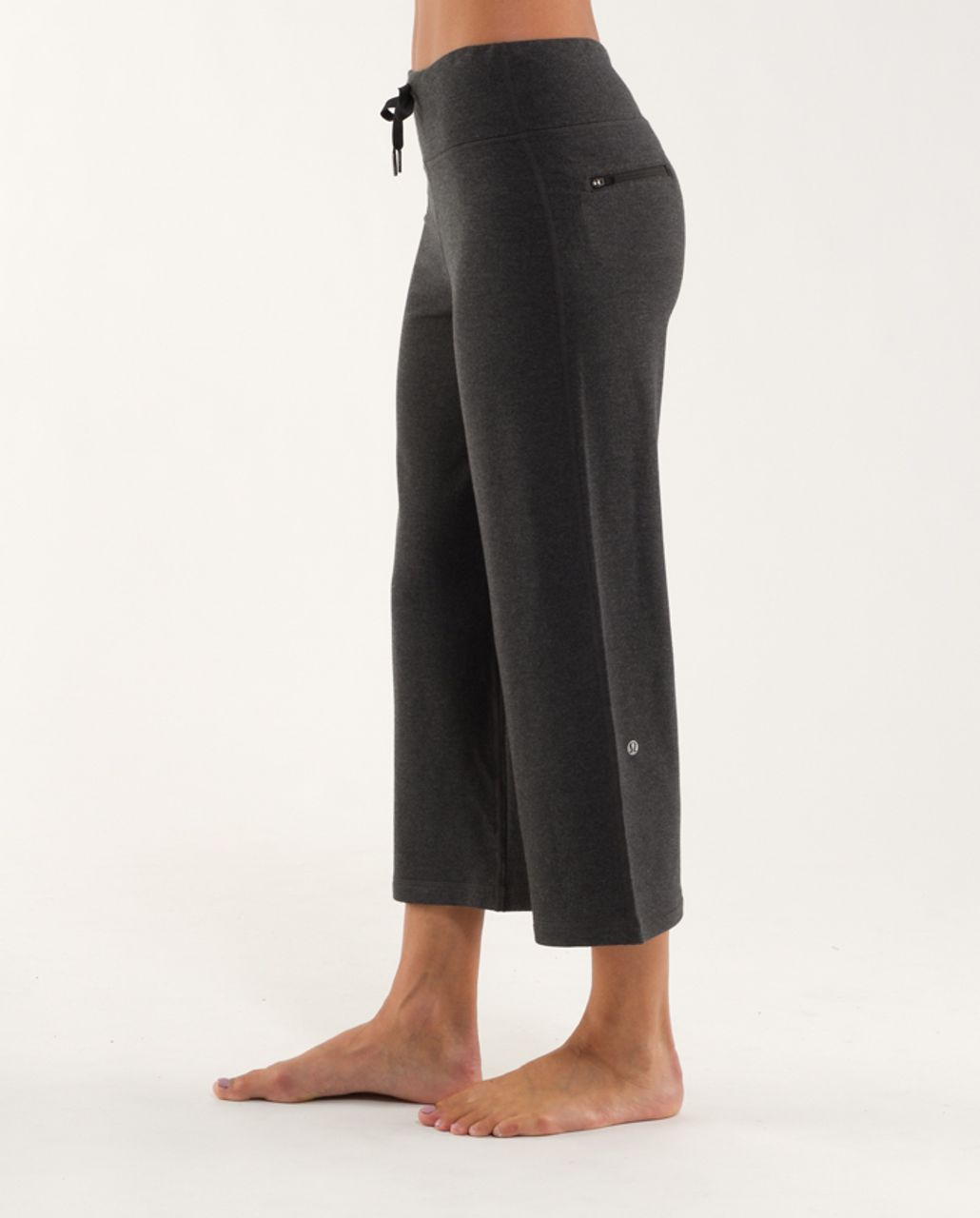 Lululemon Relaxed Fit Crop *Modal - Heathered Black