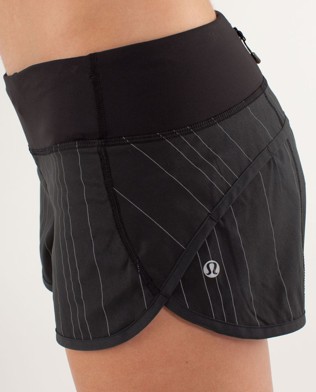 Lululemon Run:  Speed Short *Reflective - Black