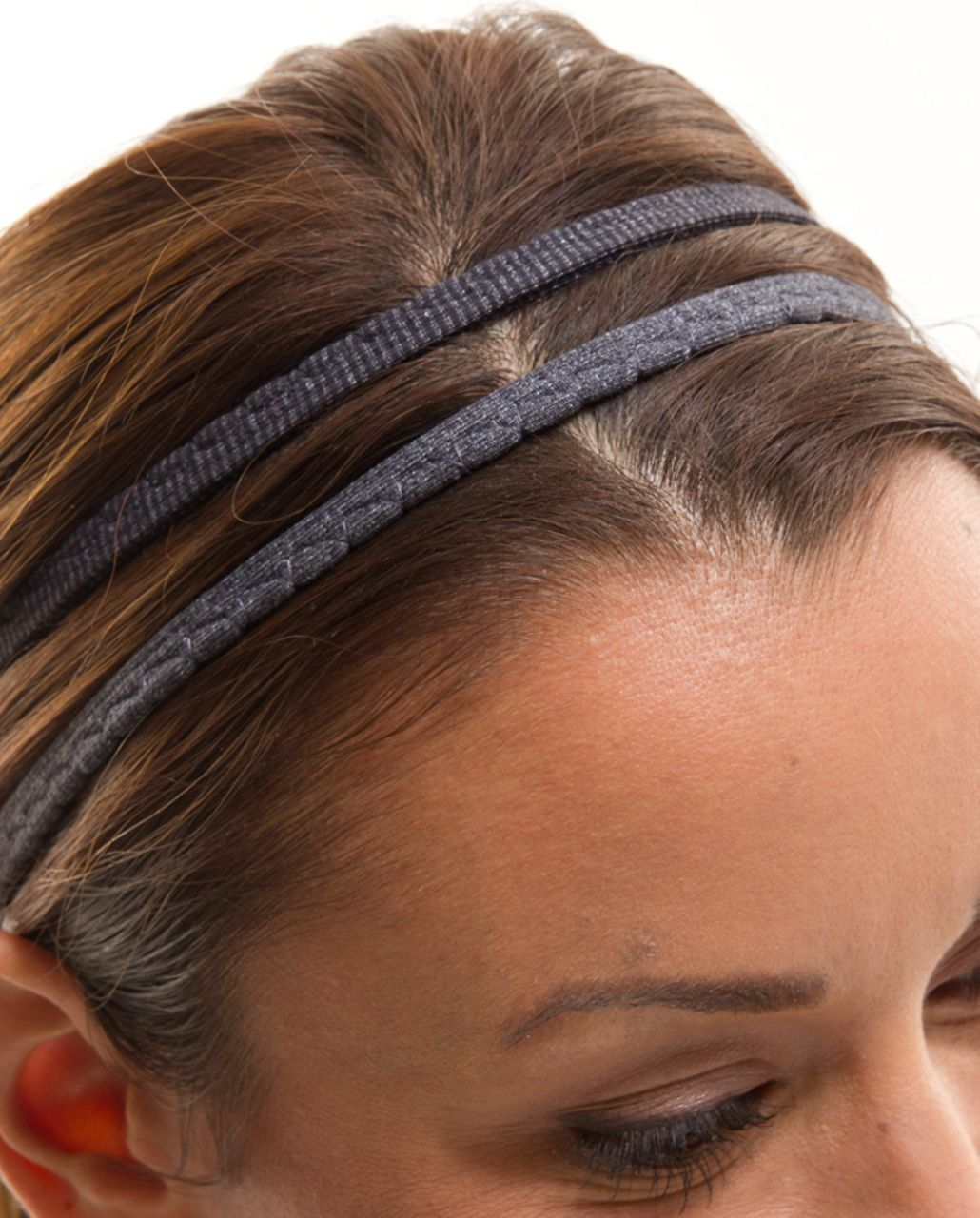 Lululemon DANCE! Headband - Deep Coal Heathered Coal Wee Stripe /  Heathered Coal