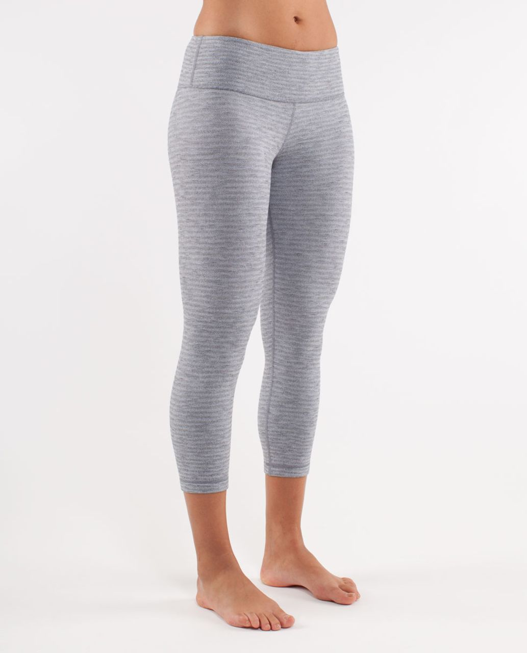 Lululemon Wunder Under Crop *Pique - Deep Coal Silver Spoon Pique