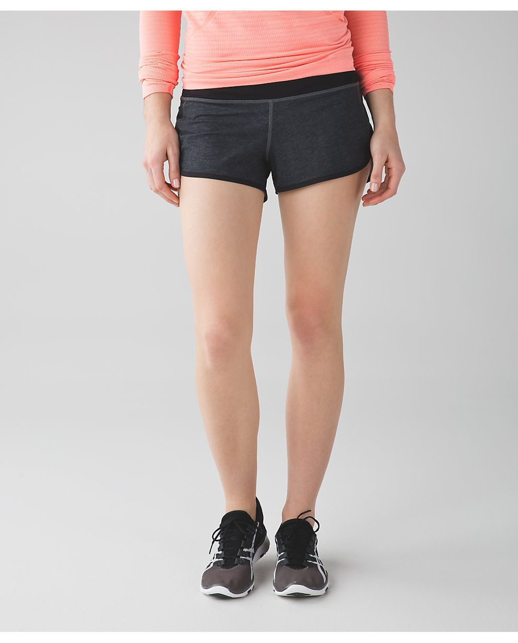 Lululemon Speed Short - Heathered Black / Black / Very Light Flare
