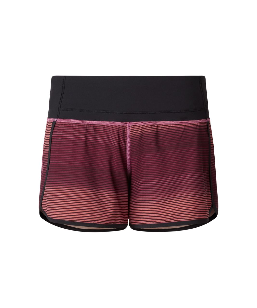 Lululemon Run Times Short - Simply Radiant Pink Paradise Black / Black