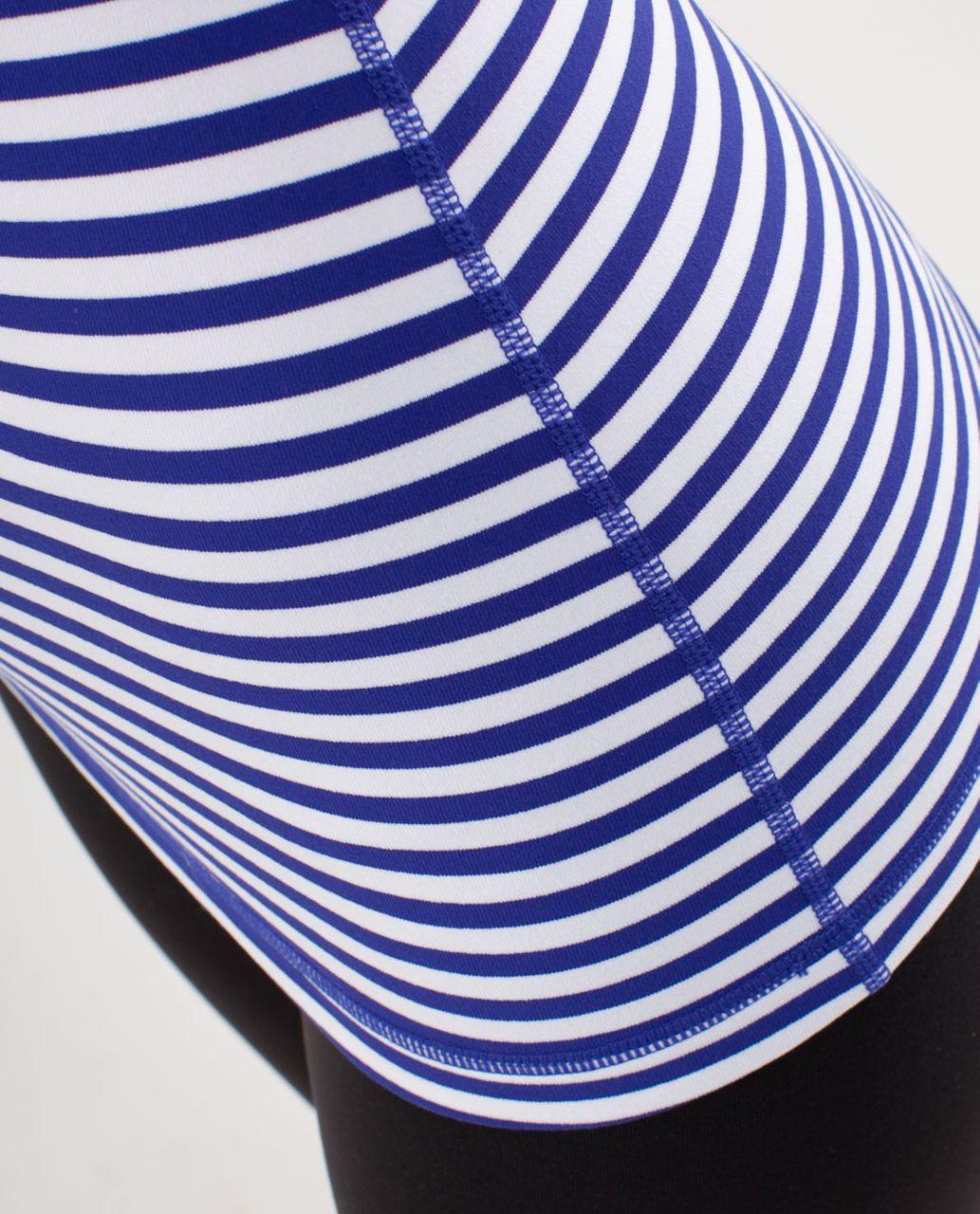 Lululemon Power Y Tank - Pigment Blue White Narrow Bold Stripe