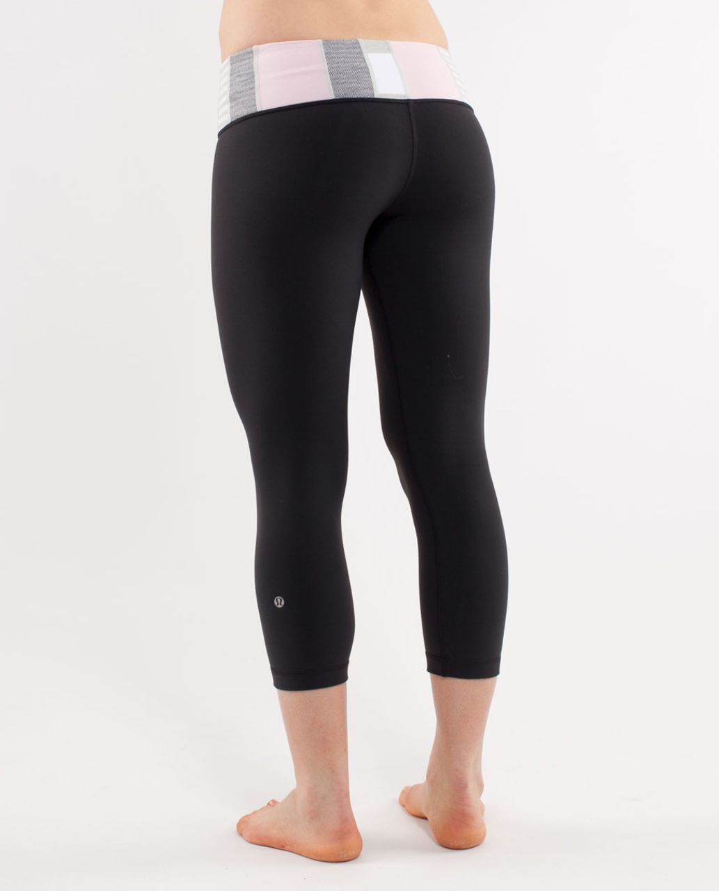 Lululemon Wunder Under Crop *Reversible - Deep Coal /  Quilting Winter 25