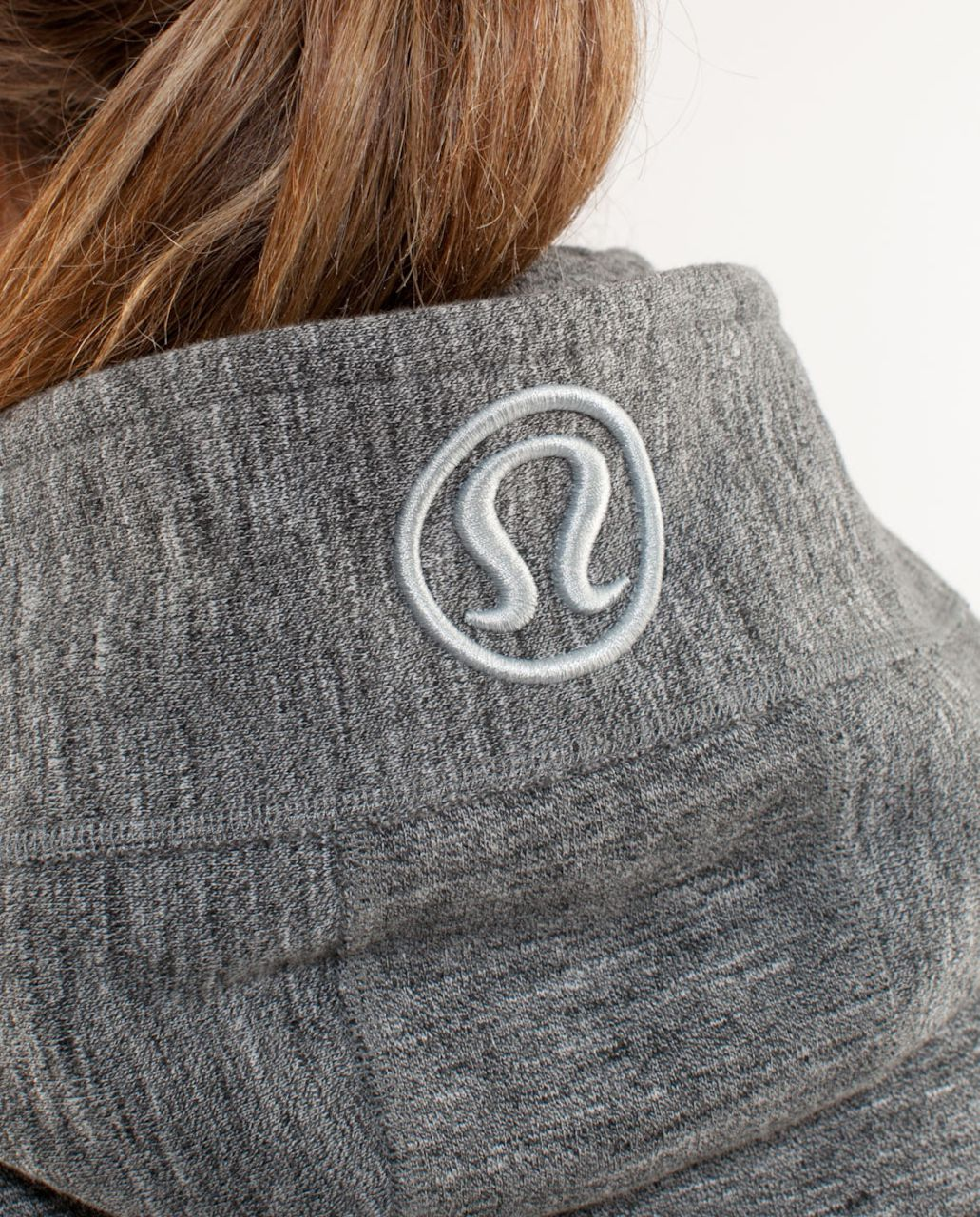 Lululemon Scuba Hoodie - Deep Coal Silver Spoon Slub Salt & Pepper