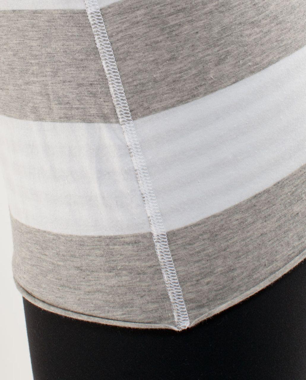 Lululemon Cabin Long Sleeve Tee II - White Silver Spoon Wide Bold Multi Stripe /  Silver Spoon White Narrow Bold Multi Stripe