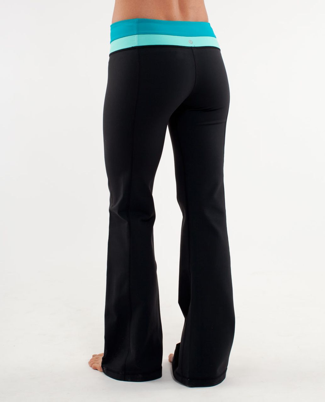 Lululemon Groove Pant (Tall) - Black /  Oasis /  River Rock