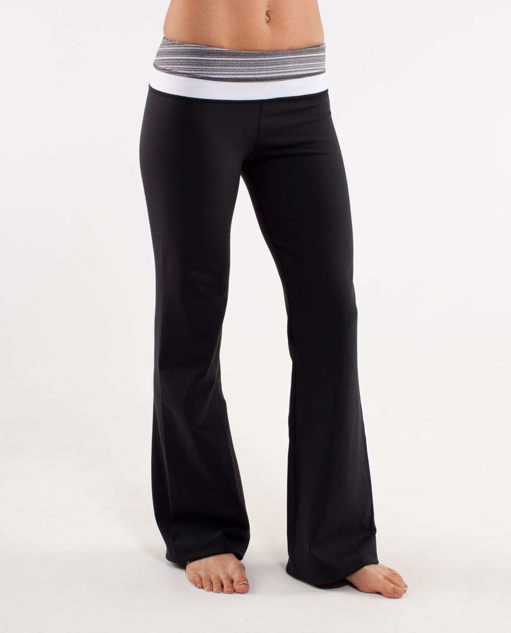 Lululemon Groove Pant (Tall) - Black /  Coal Strata Stripe /  White