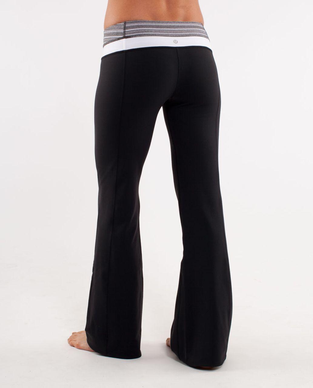Lululemon Groove Pant (Tall) - Black /  Coal Strata Stripe /  White