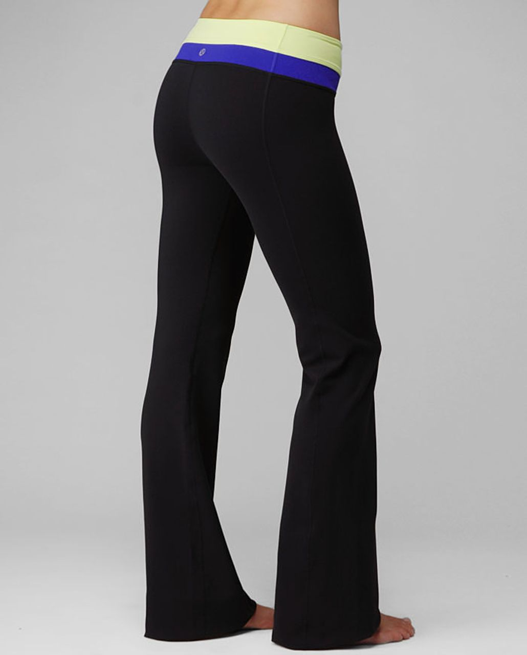 Lululemon Groove Pant (Regular) - Black /  Wish Blue